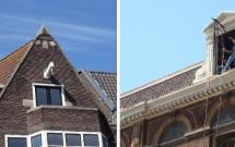 Praticamente todas as casas de Amsterdam tem esse gancho no alto pra içar objetos grandes até os andares superiores