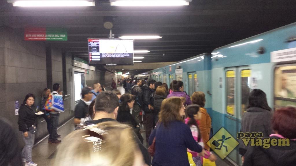 Metrô em Santiago do Chile