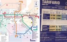 Mapa do metrô de Santiago e tarifário