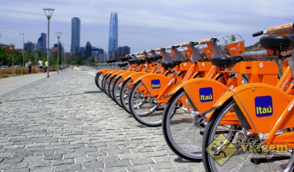 Bicicletas em Santiago