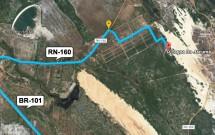 Mapa das Estradas para a Lagoa de Jacumã