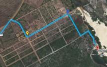 Mapa da Estrada de Chão para a Lagoa de Jacumã