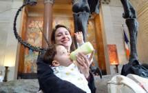 Mamando no Museu de História Natural em Nova York