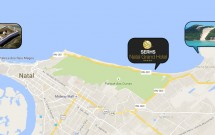 Mapa com a Localização do Serhs Natal Grand Hotel