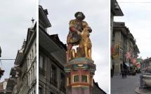 Zähringerbrunnen --- Simsonbrunnen --- Kreuzgassbrunnen