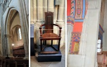 Interior gótico --- Cadeira de Calvino --- Capela Macchabées