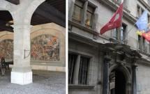 Ancient Arsenal (esq) e o Hôtel de Ville (dir)