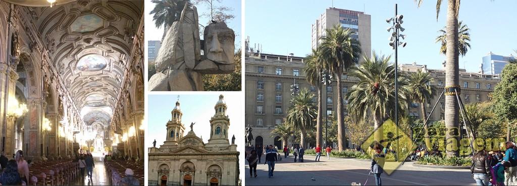 Catedral de Santiago e a Plaza de Armas