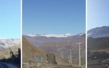 Estrada para Cajon del Maipo e Embalse el Yeso
