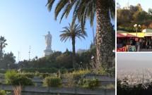 Cerro San Cristóbal: Virgem Inmaculada Concepción, feirinha e vista da cidade