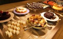 Sobremesas no Almoço do Serhs Natal Grand Hotel