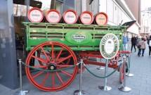 Carruagem que levava os barris de cerveja