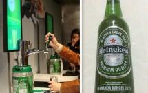 Aprendendo a tirar cerveja do barril e a minha garrafa personalizada