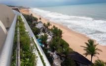 Praia e Piscinas do Serhs Natal Vistos da Suite