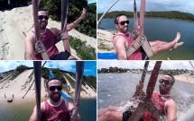 Descina no Aero Bunda da Lagoa de Jacumã