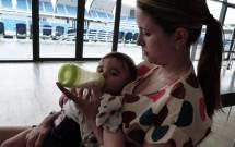 Bebê Mamando na Arena das Dunas em Natal