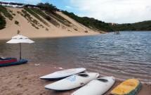 Caiaques na Lagoa de Jacumã