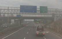 Saída Malloco-Calera de Tango na Autopista del Sol (Km 28)