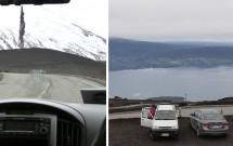 Caminho ao vulcao e a vista do Lago Llanquihue da base da estação