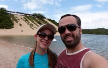 Casal na Lagoa de Jacumã