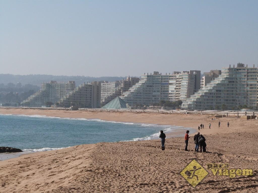 San Alfonso del Mar vista da praia de Algarrobo