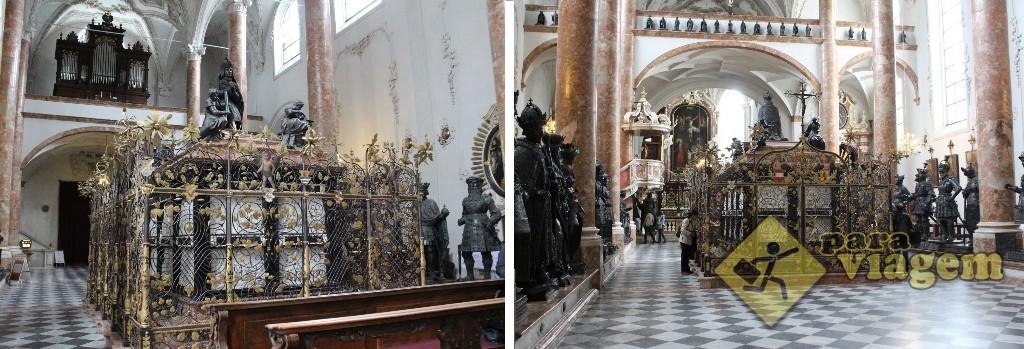O belo cenotáfio na Hofkirche