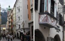 Herzog-Friedrich-Straße e seus letreiros de ferro em estilo de época