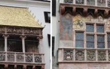 Os detalhes decorativos do Goldenes Dachl
