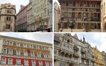 Fachadas lindamente decoradas de Praga