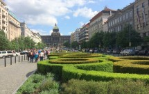 Praça Venceslau e o Museu Nacional ao fundo