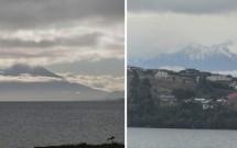 Vulcão Osorno (esq) e Calbuco (dir) sobre o Lago Llanquihue em Puerto Varas