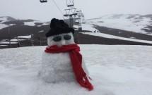 Boneco de neve na estação do Vulcão Osorno