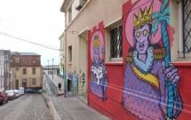 Arte de rua em Valparaíso no Chile