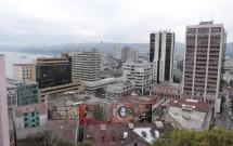 Vista da cidade de Valparaíso do Cerro Concepción