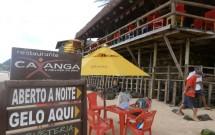 Barraca na Areia do Restaurante Caxangá em Pipa