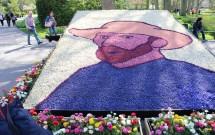 Van Gogh feito de flores