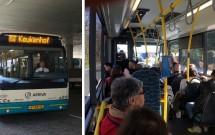 Ônibus 858 que liga Schiphol ao Keukenhof