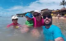 Família na Praia da Pipa/RN