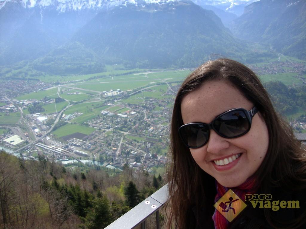 Vista de Interlaken do Harder Kulm
