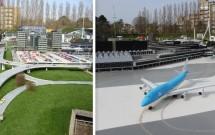 """Os """"carros"""" na auto-estrada e os """"aviões"""" taxiando de em Schiphol de mentirinha"""