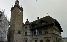 Rathaus de Lucerna e sua torre do relógio
