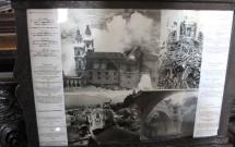 A catedral com a cúpula e o altar destruídos na 2ª Guerra
