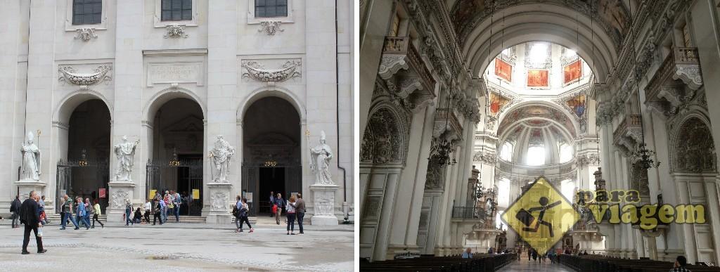 Os santos e os anos na entrada (esq) e o interior do Dom (dir)