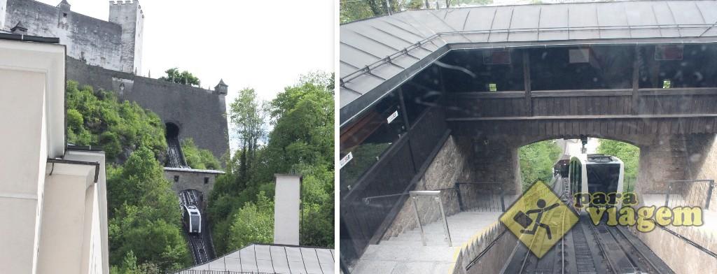 Festungbahn: o funicular que sobe até o castelo