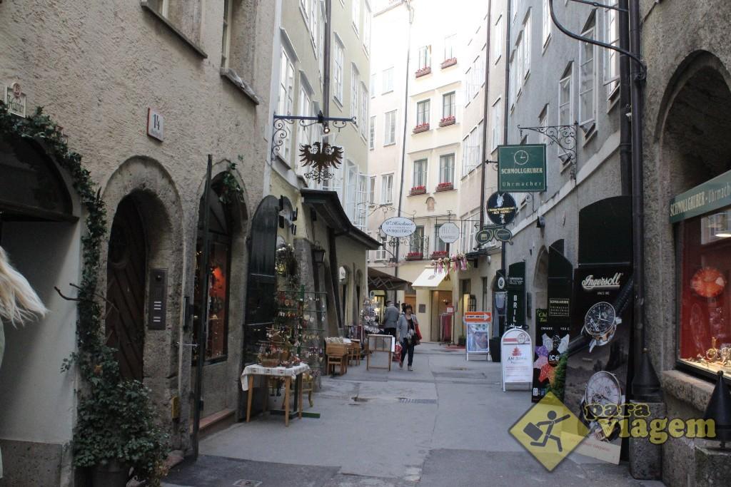 Rua da Cidade Velha de Salzburgo