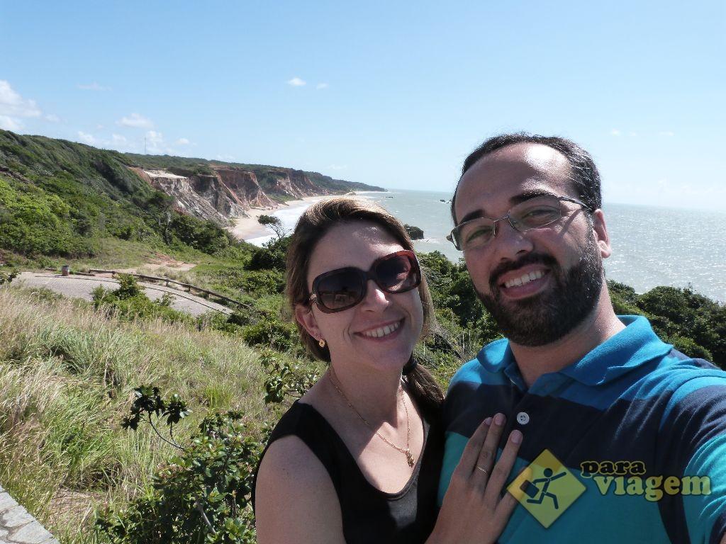 Nós no Mirante na Entrada da Praia de Tambaba