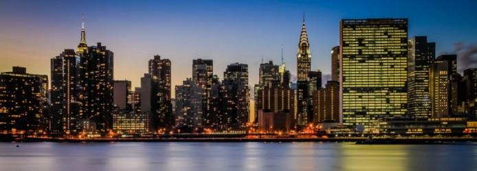 Manhattan vista de Long Island no Queens