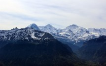O trio de picos: Eiger, Mönch e Jungfrau (da esq para dir)