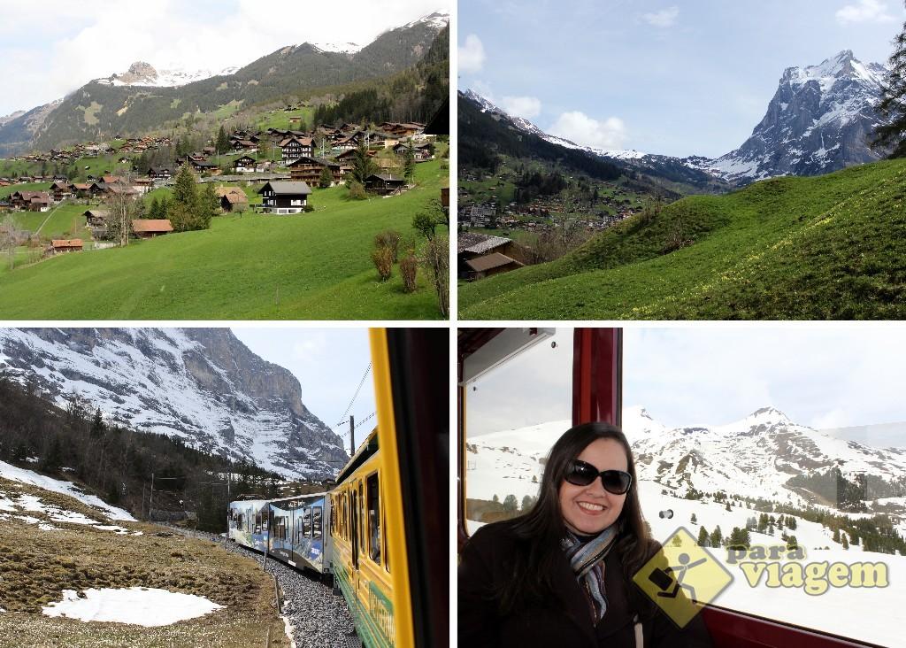 A bela paisagem vai mudando conforme vai subindo até Kleine Scheidegg