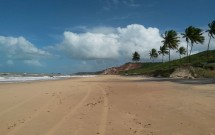 Praia de Coqueirinho e Falésias ao Fundo